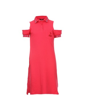 Robe manches courtes fille rose