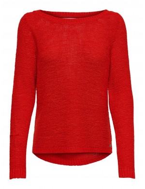 Pull femme rouge