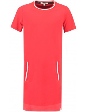 Robe manches longues fille rouge