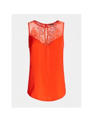 Top femme orange