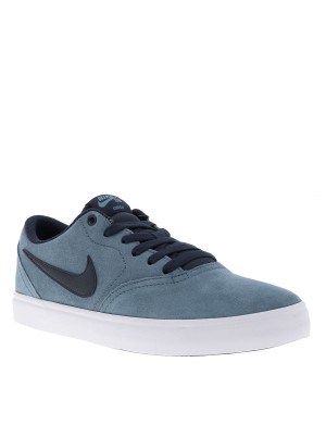 Baskets SB Check Solar homme bleu