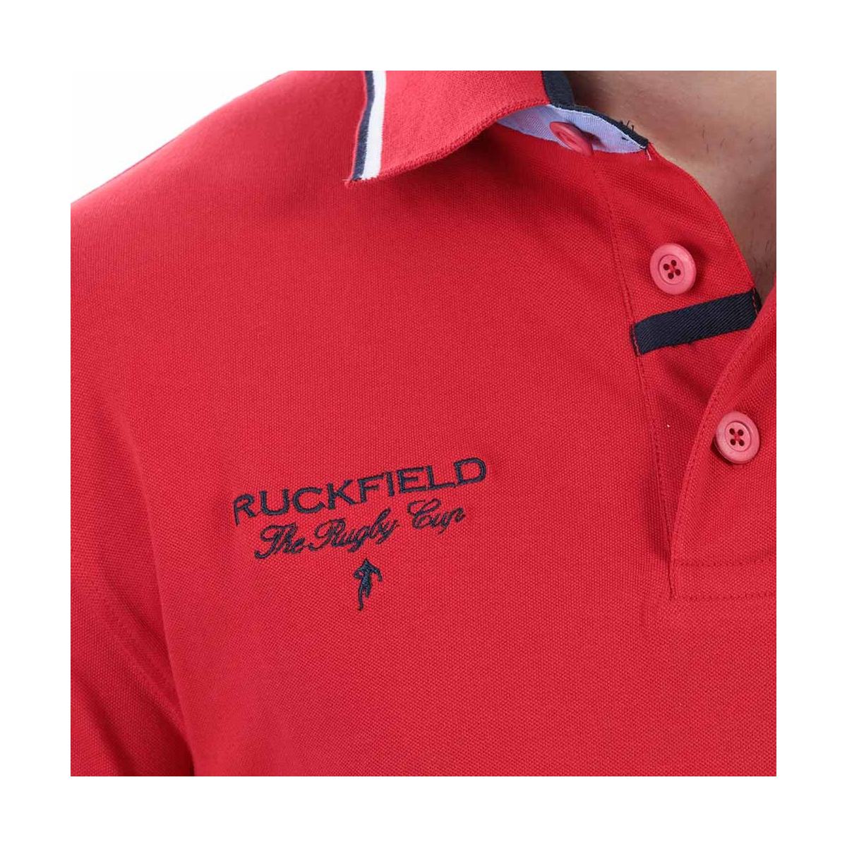 Polo manches courtes homme rouge RUCKFIELD